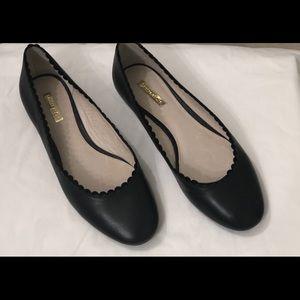 NEW Louise et Cie Black Leather Flats